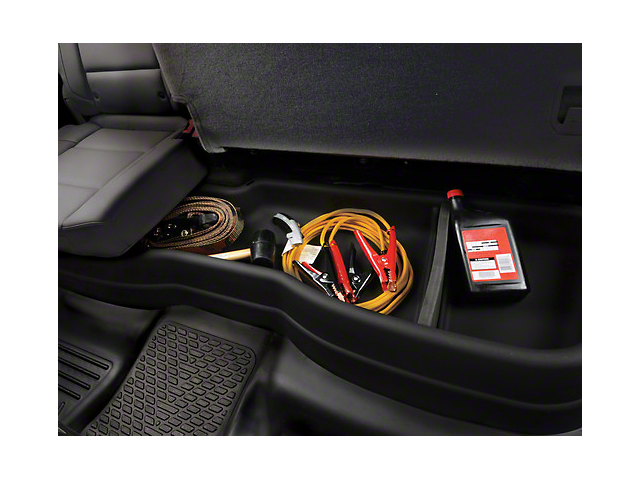 Husky GearBox Under Seat Storage Box; Black (07-13 Sierra 1500 Extended Cab, Crew Cab)