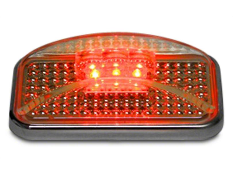 Red LED w/ Ion Chrome Lens Side Marker