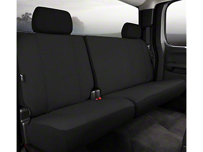Fia Custom Fit Poly-Cotton Rear Seat Cover - Black (07-13 Sierra 1500 Extended Cab, Crew Cab)