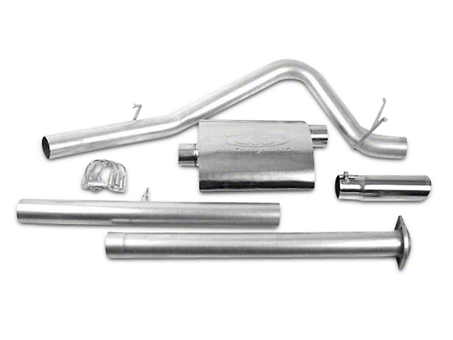 CGS Motorsports Stainless Single Exhaust System; Side Exit (07-08 6.0L Sierra 1500)