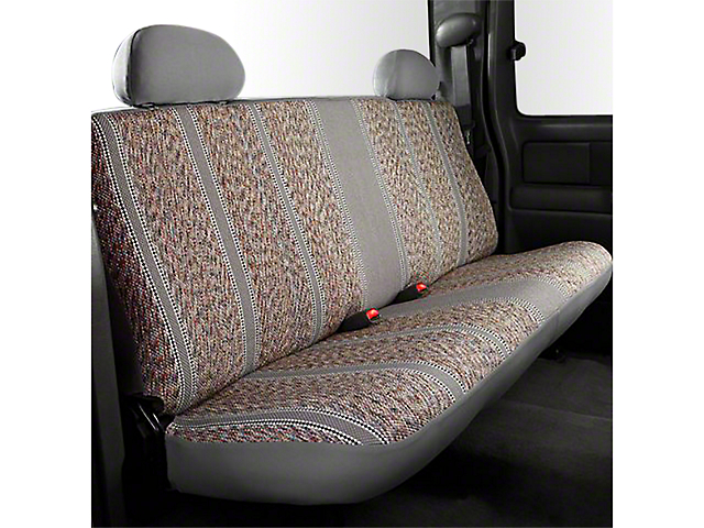 Fia Custom Fit Saddle Blanket Rear Seat Cover - Gray (07-13 Sierra 1500 Extended Cab, Crew Cab)