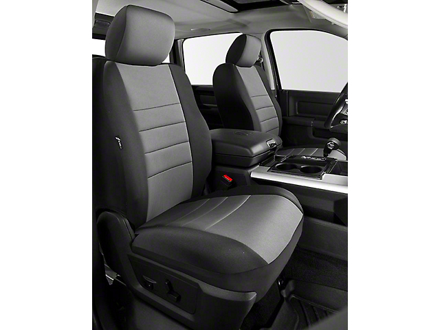 Fia Custom Fit Neoprene Front Seat Covers - Gray (14-18 Sierra 1500 w/ Bucket Seats)