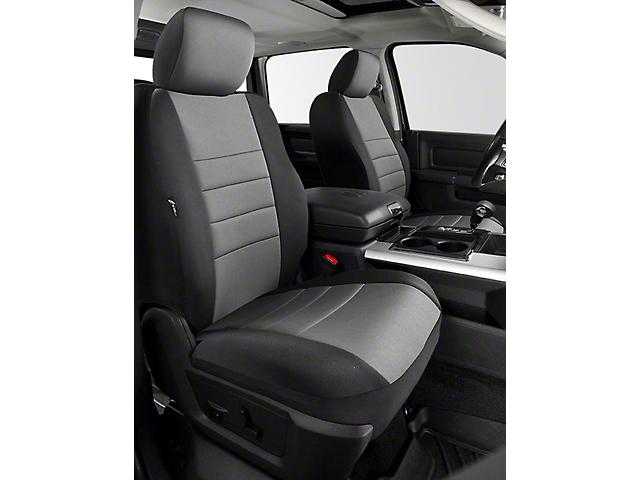 Fia Custom Fit Neoprene Front Seat Covers; Gray (14-18 Sierra 1500 w/ Bucket Seats)