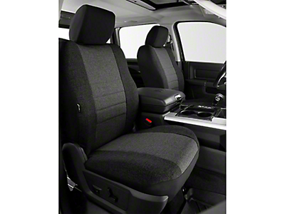 Fia Custom Fit Tweed Front Seat Covers - Charcoal (14-18 Sierra 1500 w/ Bucket Seats)