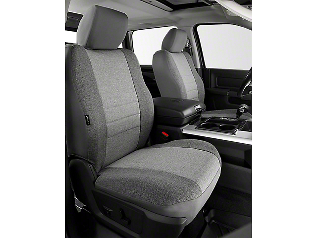 Fia Custom Fit Tweed Front Seat Covers - Gray (14-18 Sierra 1500 w/ Bucket Seats)