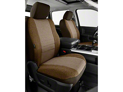 Fia Custom Fit Tweed Front Seat Covers - Taupe (14-18 Sierra 1500 w/ Bucket Seats)