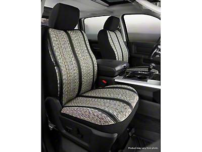 Fia Custom Fit Saddle Blanket Front Seat Covers - Black (14-18 Sierra 1500 w/ Bucket Seats)
