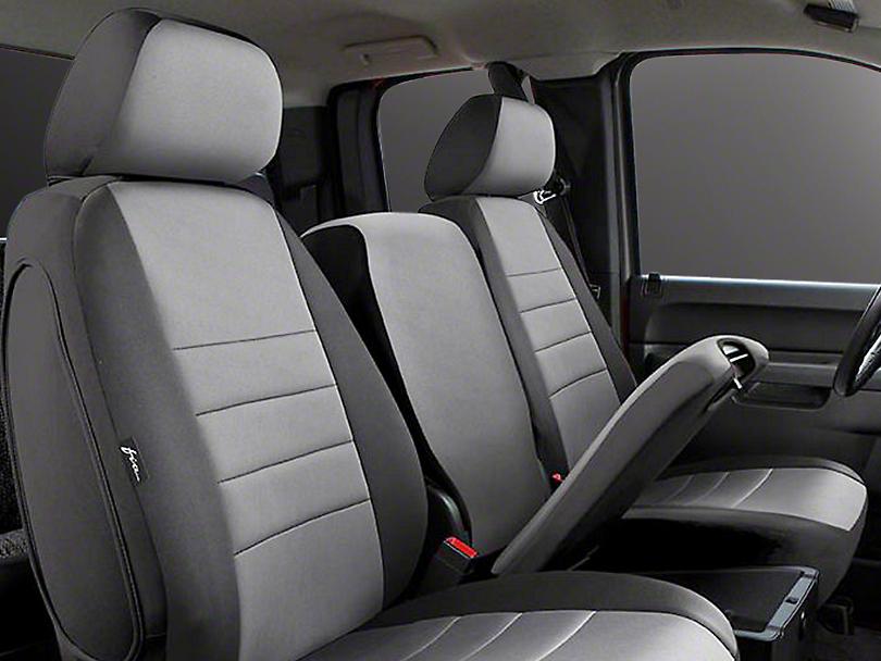 Fia Custom Fit Neoprene Front Seat Covers - Gray (14-18 Sierra 1500 w/ Bench Seat)