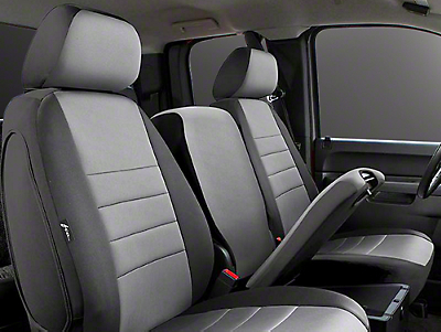 Fia Custom Fit Neoprene Front Seat Covers - Gray (14-18 Sierra 1500 w/ Bench Seat)