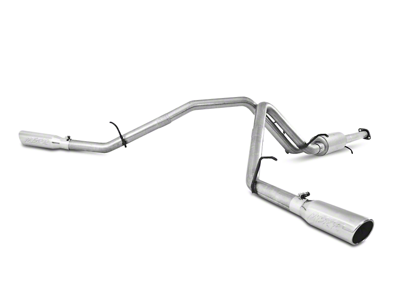 MBRP 2.5 in. Installer Series Dual Exhaust System - Side Exit (07-09 6.0L Sierra 1500, Excluding Hybrid)