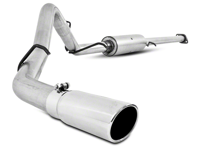MBRP 3 in. Installer Series Single Exhaust System - Side Exit (07-09 6.0L Sierra 1500, Excluding Hybrid)