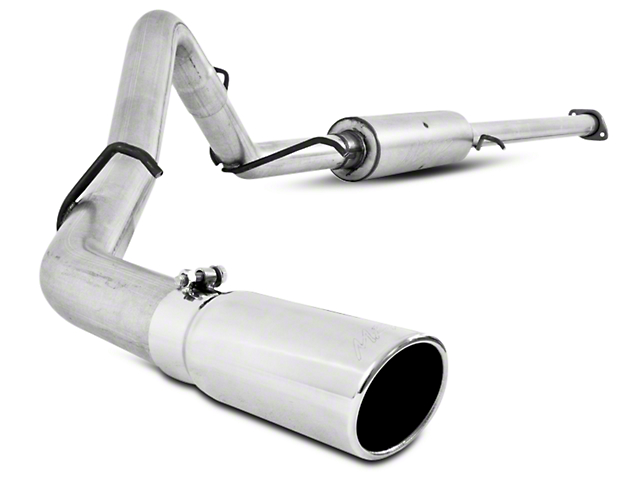 MBRP 3-Inch Installer Series Single Exhaust System with Polished Tip; Side Exit (07-09 6.0L Sierra 1500, Excluding Hybrid)