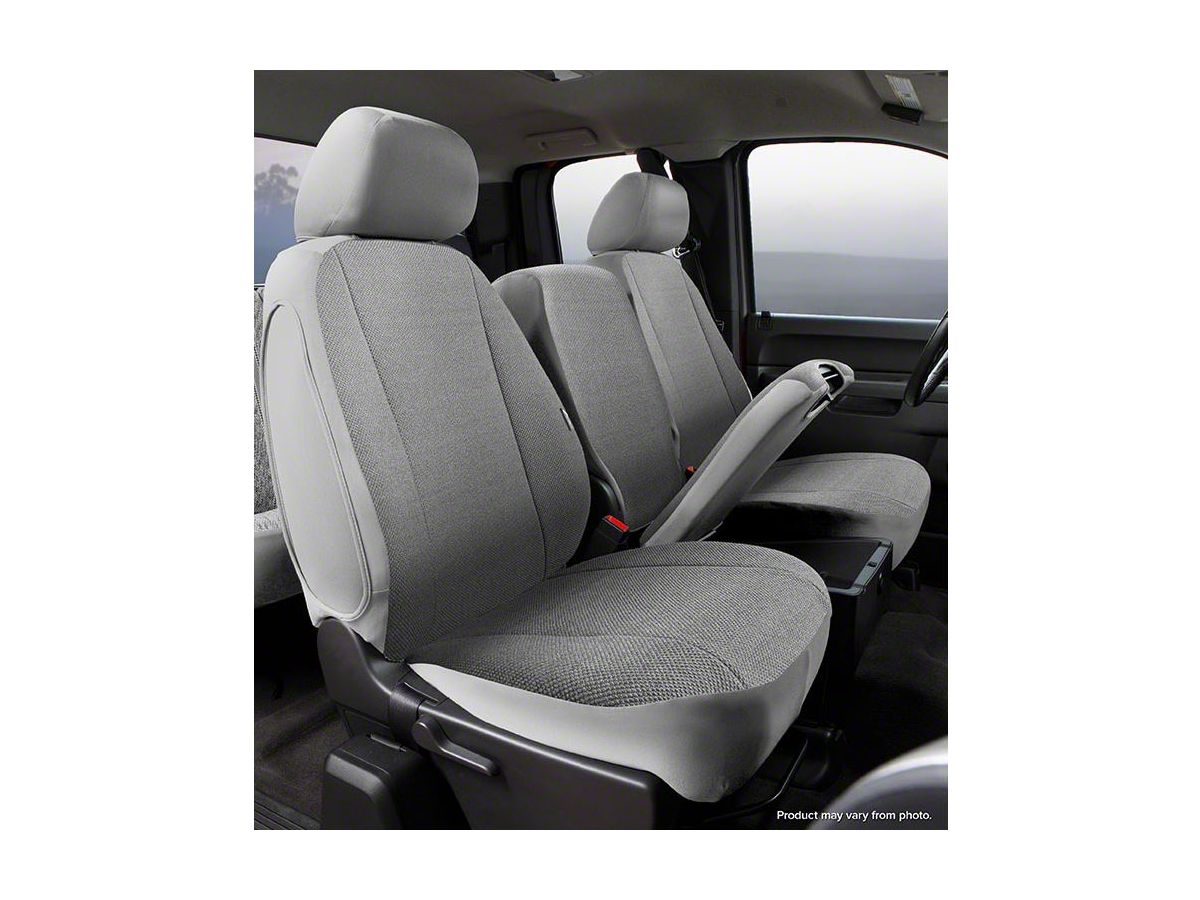Super Fia Custom Fit Solid Saddle Blanket Front Seat Covers Gray 14 18 Sierra 1500 W Bench Seat Caraccident5 Cool Chair Designs And Ideas Caraccident5Info