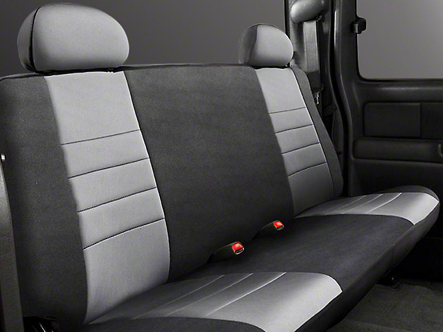 Fia Custom Fit Neoprene Rear Seat Cover - Gray (14-18 Sierra 1500 Double Cab, Crew Cab)