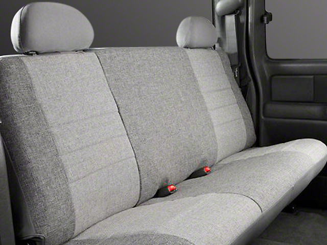 Fia Custom Fit Tweed Rear Seat Cover - Gray (14-18 Sierra 1500 Double Cab, Crew Cab)