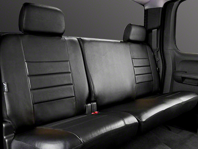 Fia Custom Fit Leatherlite Rear Seat Cover - Black (14-18 Sierra 1500 Double Cab, Crew Cab)
