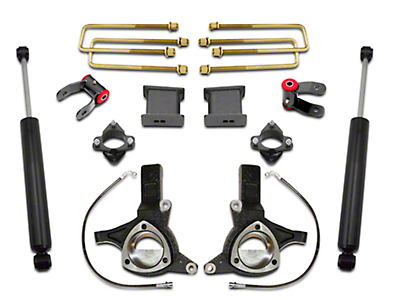 Max Trac 7.5 in. Front / 4 in. Rear Lift Kit w/ Shocks (07-18 2WD Sierra 1500 w/ Stock Cast Steel Control Arms, Excluding 14-18 Denali)