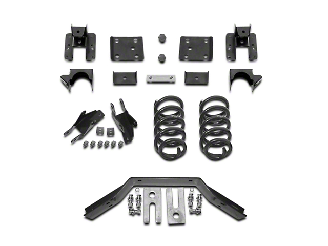 Max Trac Lowering Kit; 2-Inch Front / 4-Inch Rear (16-18 2WD Sierra 1500 w/ Stamped Steel Control Arms, Excluding Denali)