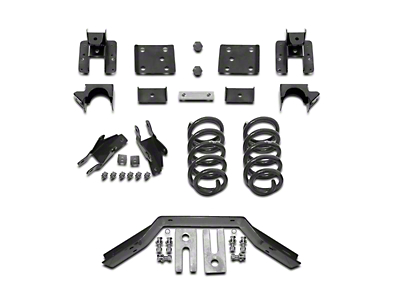 Max Trac Lowering Kit - 2 in. Front / 4 in. Rear (16-18 2WD Sierra 1500 w/ Stamped Steel Control Arms, Excluding Denali)