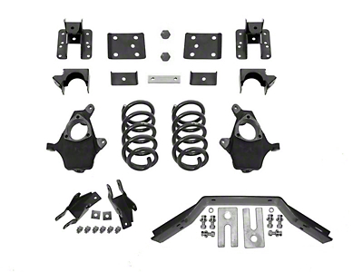 Max Trac Lowering Kit - 3 in. Front / 5 in. Rear (14-18 2WD/4WD Sierra 1500 w/ Stock Cast Steel Control Arms, Excluding Denali)