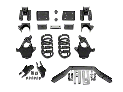 Max Trac Lowering Kit - 3 in. Front / 5 in. Rear (16-18 2WD Sierra 1500 w/ Stamped Steel Control Arms, Excluding Denali)