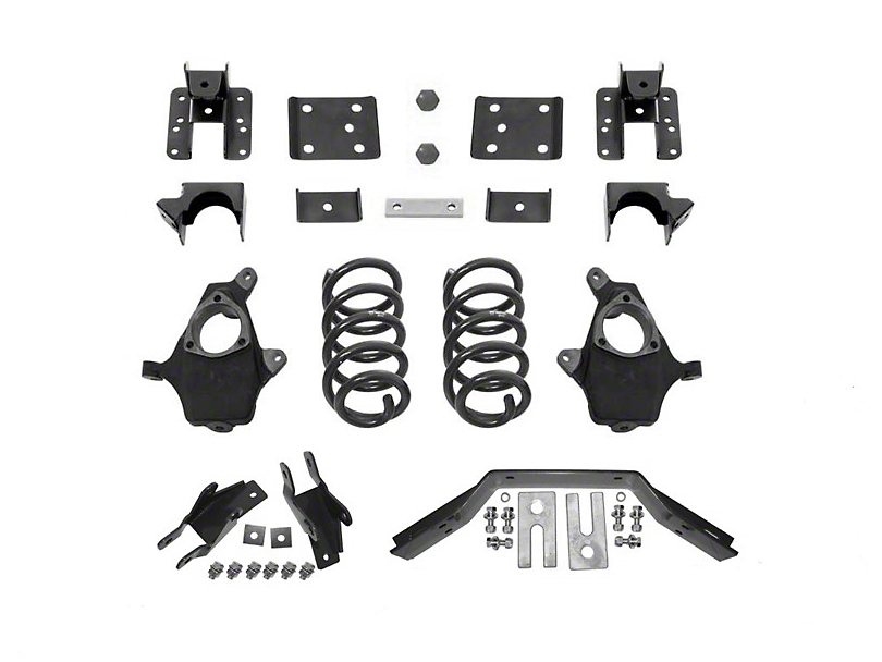 Max Trac Lowering Kit - 4 in. Front / 6 in. Rear (16-18 2WD Sierra 1500 w/ Stamped Steel Control Arms, Excluding Denali)