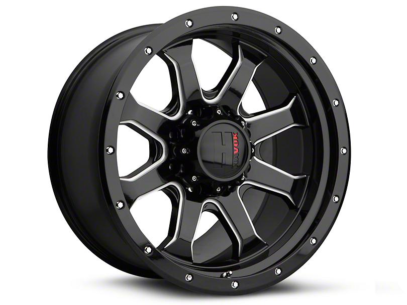 Havok Off-Road H105 Black Milled 6-Lug Wheel - 18x9 (07-19 Sierra 1500)