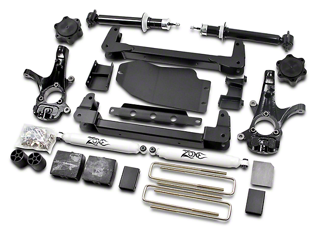Zone Offroad 6.5 in. IFS Suspension Lift Kit w/ Shocks (07-13 4WD Sierra 1500, Excluding Hybrid)