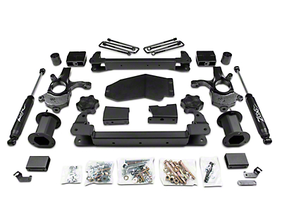 Zone Offroad 6.5 in. Strut Spacer Suspension Lift Kit w/ Shocks (07-13 4WD Sierra 1500, Excluding Hybrid)