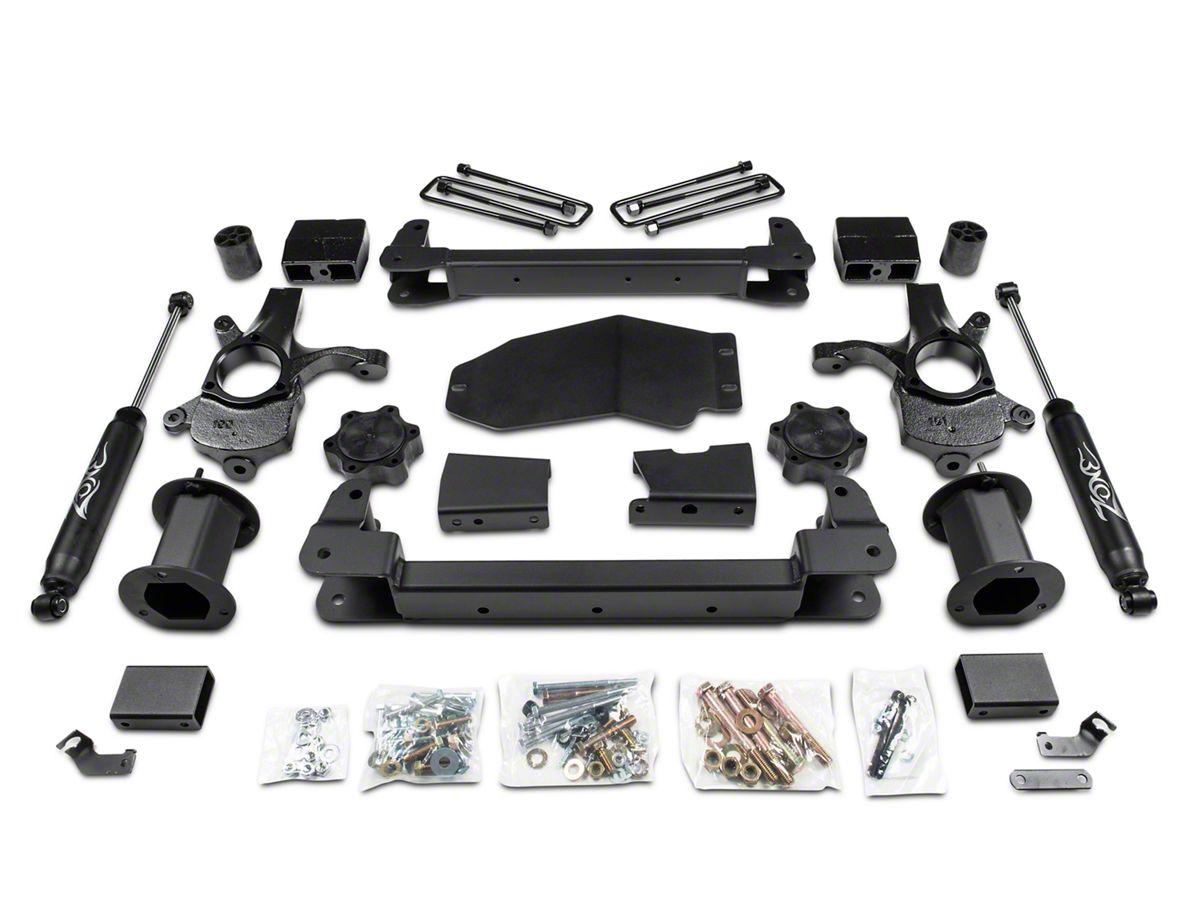 Zone Offroad 6 5 in  Strut Spacer Suspension Lift Kit w/ Shocks (07-13 4WD  Sierra 1500, Excluding Hybrid)