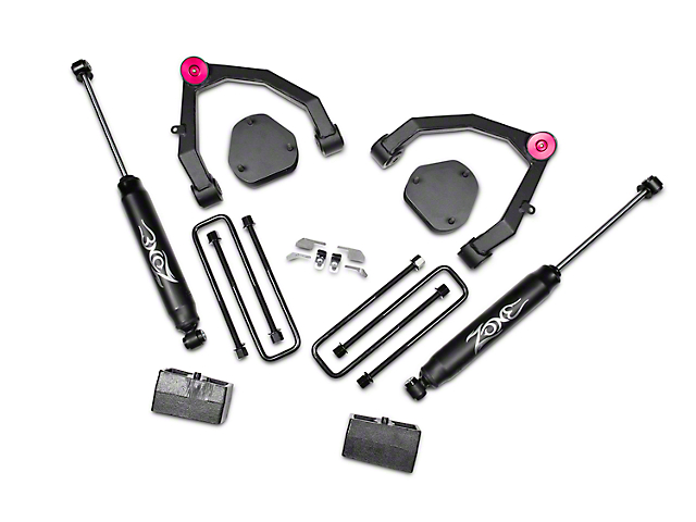 Zone Offroad 3.50-Inch Adventure Series UCA Lift Kit with Shocks (07-13 2WD Sierra 1500)