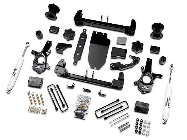 Zone Offroad 4.50-Inch Suspension Lift Kit with Nitro Shocks (14-18 4WD Sierra 1500, Excluding Denali)
