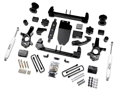 Zone Offroad 4.5 in. Suspension Lift Kit w/ Shocks (14-18 4WD Sierra 1500, Excluding Denali)