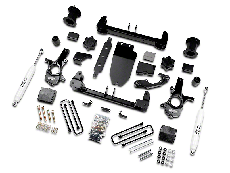 Zone Offroad 6.5 in. Suspension Lift Kit w/ Shocks (14-18 2WD Sierra 1500)