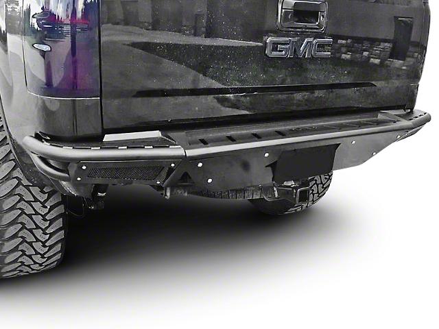 N-Fab R.B.S. Pre-Runner Rear Bumper w/ Skid Plate - Gloss Black (07-13 Sierra 1500)