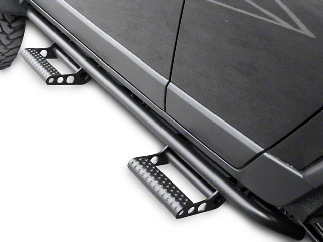 N-Fab Cab Length RKR Side Rails - Textured Black (07-13 Sierra 1500 Crew Cab)
