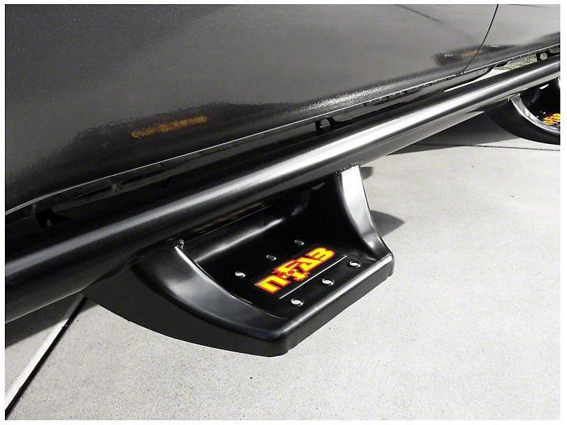 N-Fab Wheel 2 Wheel N-Durastep Side Step Bars - Semi-Gloss Black (14-18 Sierra 1500 Double Cab, Crew Cab)