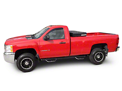 N-Fab Wheel 2 Wheel Bed Access Nerf Side Step Bars - Gloss Black (14-18 Sierra 1500, Excluding Regular Cab w/ Long Box)