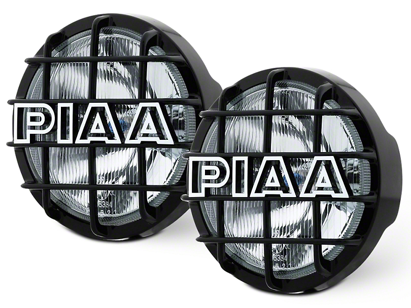 PIAA 520 Series 6 in. Round ATP Xtreme White Halogen Lights - Spot Beam - Pair (07-18 Sierra 1500)
