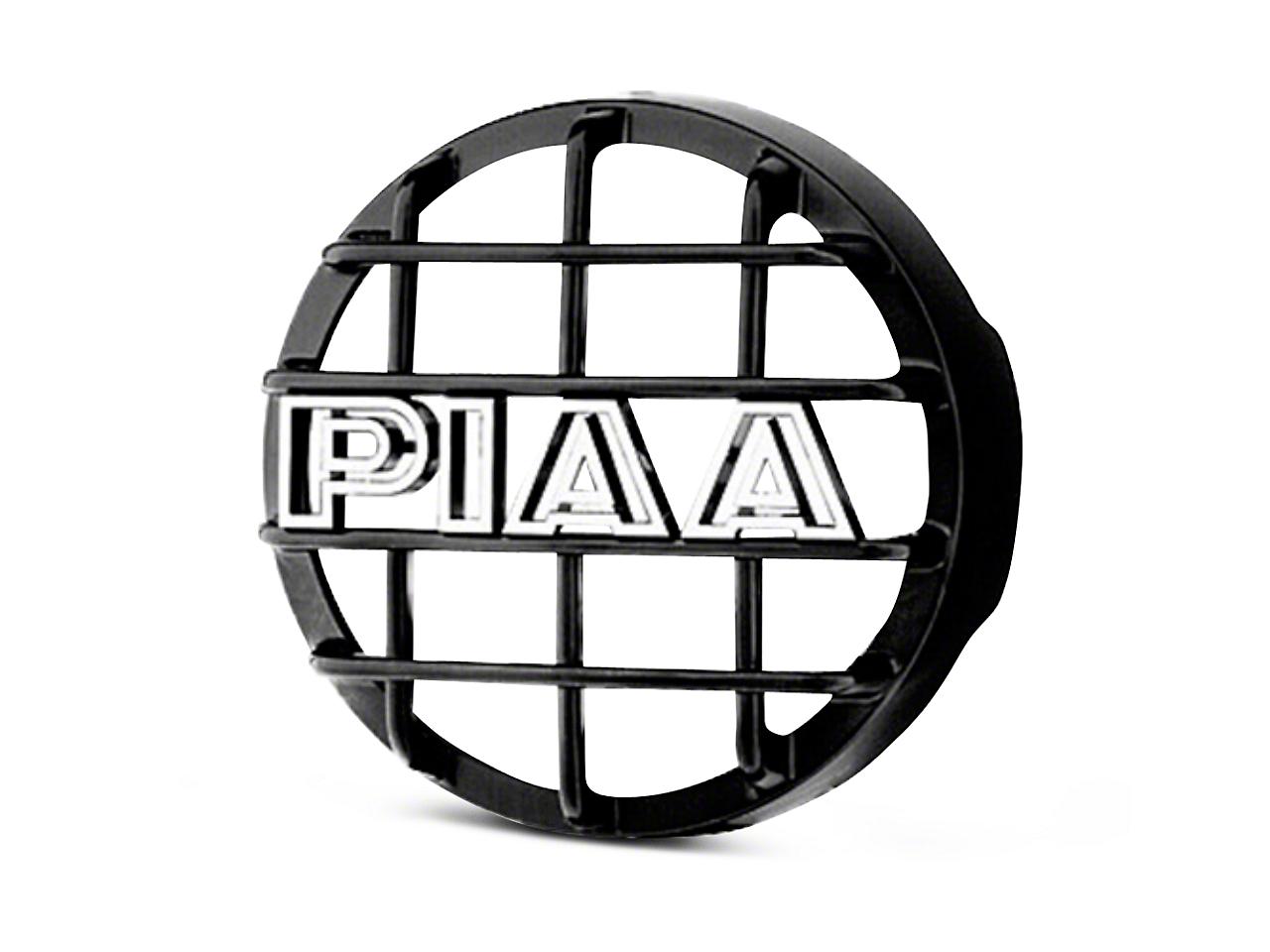 PIAA 520 Series 6 in. Round Black Mesh Grille w/ PIAA Logo (07-18 Sierra 1500)
