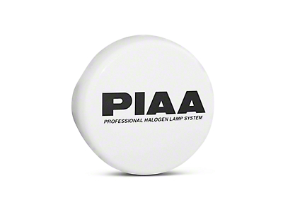 PIAA 510 Series 4 in. Round Solid White Cover w/ PIAA Logo (07-18 Sierra 1500)