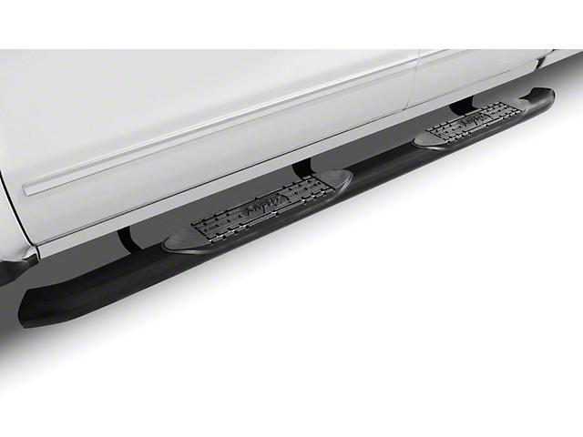 Raptor Series 4 in. OE Style Curved Oval Side Step Bars - Black - Rocker Panel Mount (07-13 Sierra 1500)