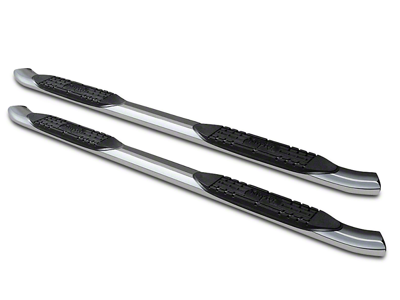 Raptor Series 4 in. OE Style Curved Oval Body Mount Side Step Bars - Polished Stainless (07-13 Sierra 1500)