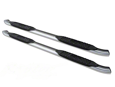 Raptor Series 4 in. OE Style Curved Oval Body Mount Side Step Bars - Polished Stainless (14-18 Sierra 1500)