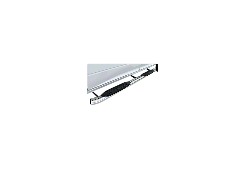 Raptor Series 5 in. OE Style Curved Oval Body Mount Side Step Bars - Polished Stainless (14-18 Sierra 1500)