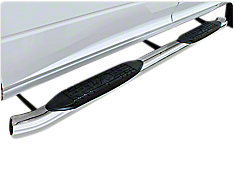 Raptor Series 5 in. OE Style Curved Oval Side Step Bars - Polished Stainless - Body Mount (14-18 Sierra 1500)
