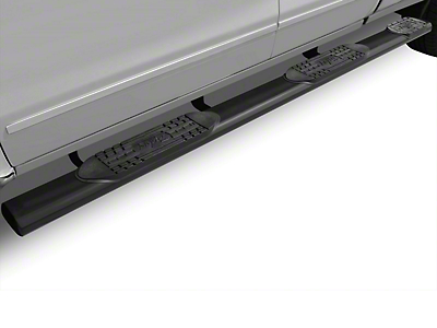 Raptor Series 6 in. Oval Wheel to Wheel Side Step Bars - Black - Rocker Panel Mount (14-18 Sierra 1500 Double Cab, Crew Cab)