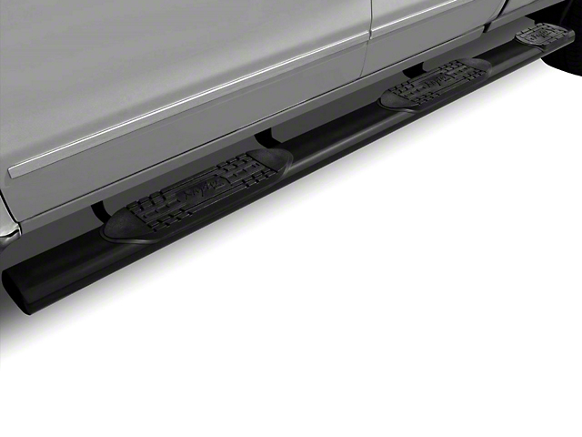 Raptor Series 6 in. Oval Wheel to Wheel Body Mount Side Step Bars - Black (07-13 Sierra 1500 Extended Cab & Crew Cab w/ Standard Box)