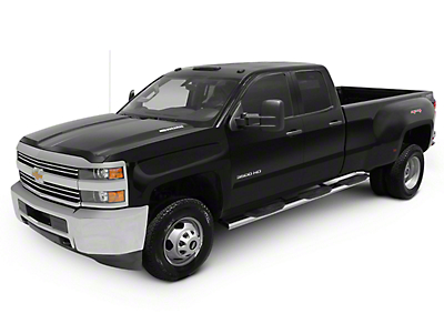 Raptor Series 6 in. Oval Wheel to Wheel Side Step Bars - Polished Stainless - Body Mount (07-13 Sierra 1500 Extended Cab & Crew Cab w/ Standard Box)