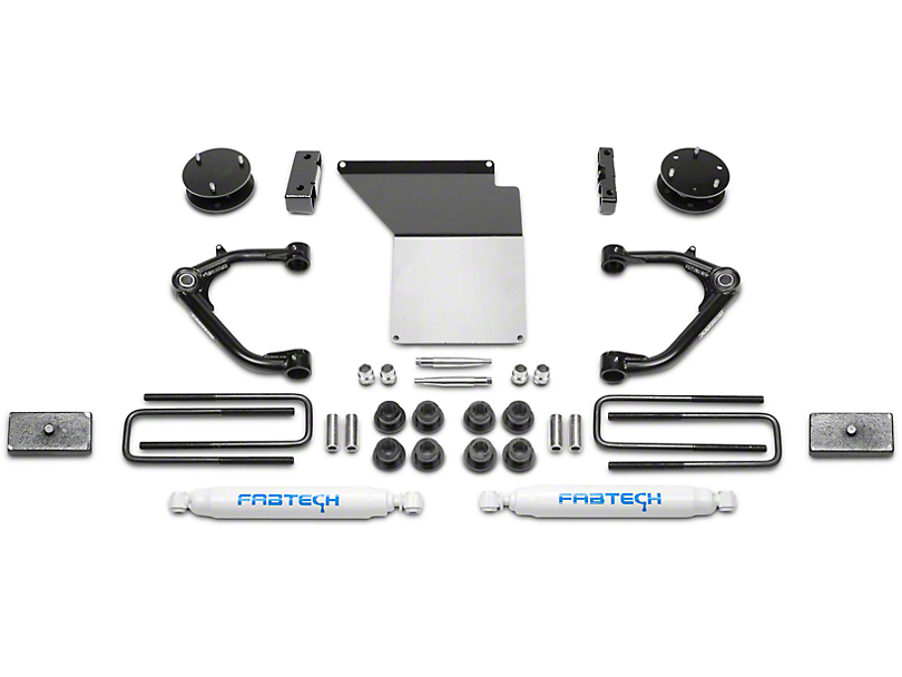 Fabtech 4 in. Uniball Upper Control Arm System w/ Shocks (07-13 2WD/4WD Sierra 1500 Extended Cab, Crew Cab)